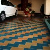 Parking floor tiles design